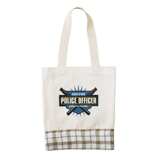 Certified Police Officer Zazzle HEART Tote Bag