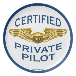 Certified Private Pilot Wings: Kitchen: Plates