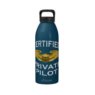 Certified Private Pilot Wings: Kitchen: Reusable Water Bottles
