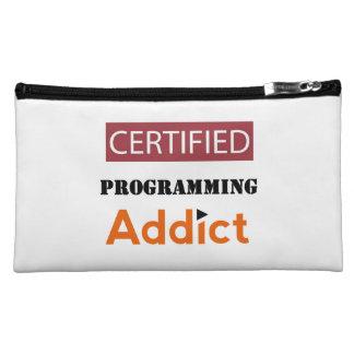 Certified Programming Addict Makeup Bag