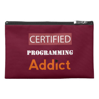 Certified Programming Addict Travel Accessory Bag