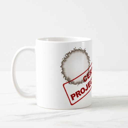 Certified Project Manager Stained Coffee Mug