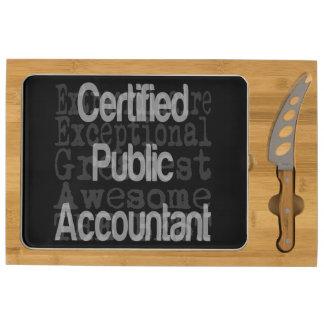 Certified Public Accountant Extraordinaire Rectangular Cheese Board