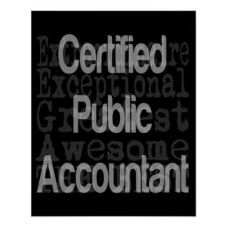 Certified Public Accountant Extraordinaire Poster