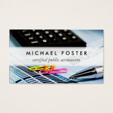Certified Public Accountant Simple Minimal Elegant Business Card at Zazzle