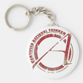 Certified Rational Thinker Keychain