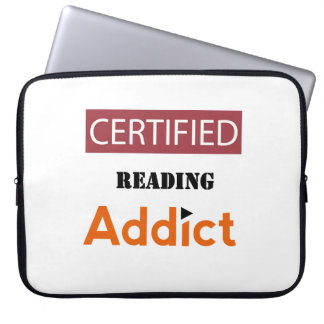 Certified Reading Addict Laptop Computer Sleeves