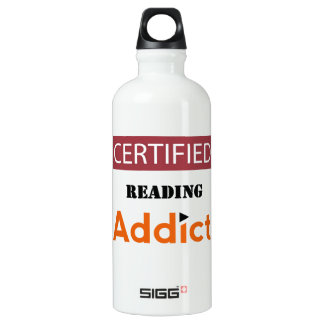 Certified Reading Addict Water Bottle