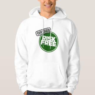 Certified Risk Free white hoodie