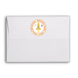 Certified rocket man envelopes