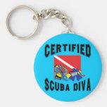 Certified SCUBA Diva Keychains