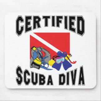 Certified SCUBA Diva Mouse Pad