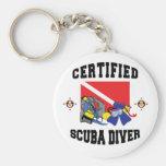 Certified SCUBA Diver Basic Round Button Keychain