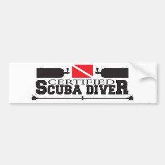 Certified Scuba Diver Bumper Sticker
