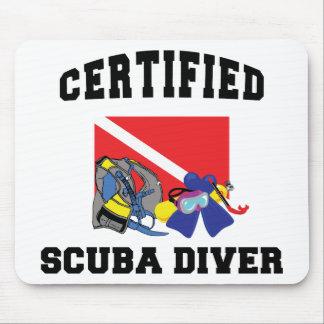 Certified SCUBA Diver Mouse Pad