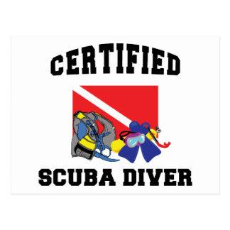 Certified SCUBA Diver Postcard