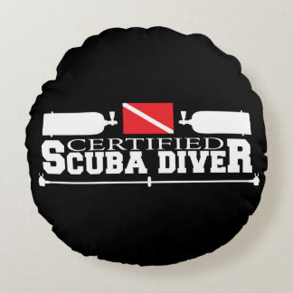 Certified Scuba Diver Round Pillow