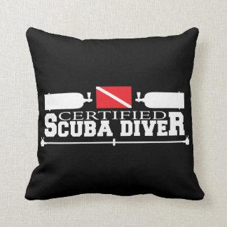 Certified Scuba Diver Square Pillow