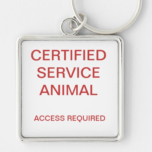 Certified Service Animal Dog Tag Key Chains