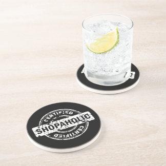 Certified Shopaholic Drink Coaster