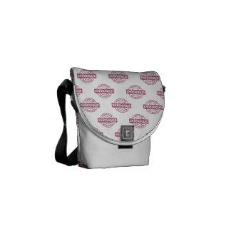 Certified Shopaholic pattern Courier Bag