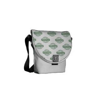 Certified Shopaholic pattern Messenger Bag