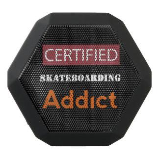 Certified Skateboarding Addict Black Bluetooth Speaker