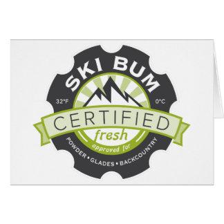 Certified Ski Bum Card