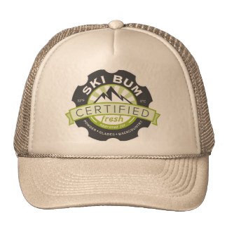 Certified Ski Bum Mesh Hats