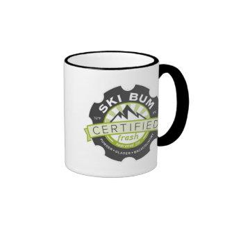Certified Ski Bum Ringer Coffee Mug