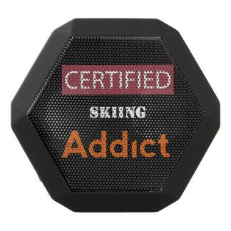 Certified Skiing Addict Black Bluetooth Speaker