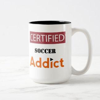 Certified Soccer Addict Two-Tone Coffee Mug