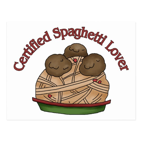 Certified Spaghetti Lover Postcard