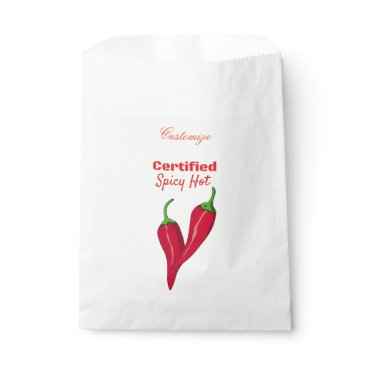 Hawaiian Themed Certified Spicy Hot Thunder_Cove Favor Bag