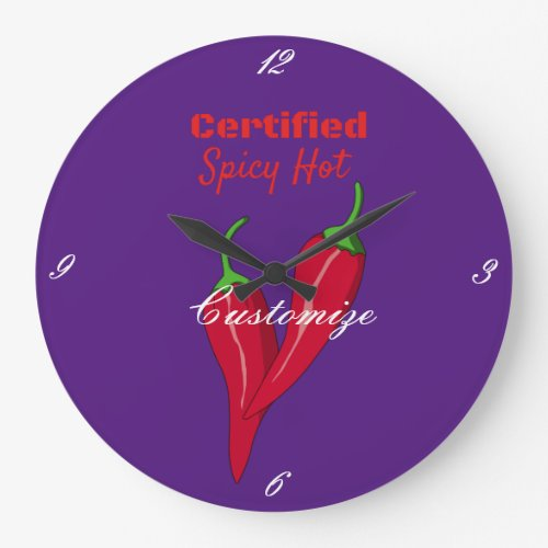 Certified Spicy Hot Wife Hot Life Thunder_Cove Large Clock