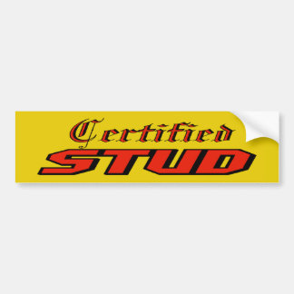 Certified Stud Bumper Sticker