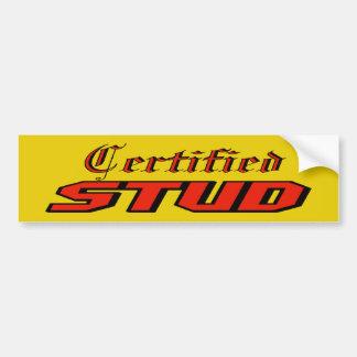 Certified Stud Bumper Sticker Car Bumper Sticker