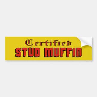 Certified Stud Muffin Bumper Sticker