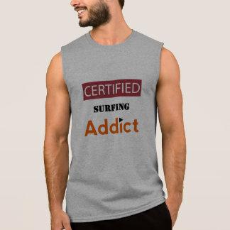 Certified Surfing Addict Sleeveless T-shirt