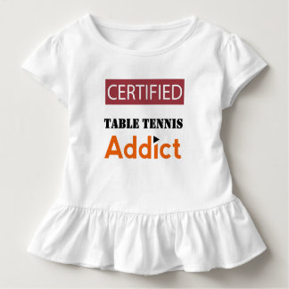 Certified Table Tennis Addict Toddler T-shirt