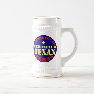 CERTIFIED TEXAN BEER STEIN