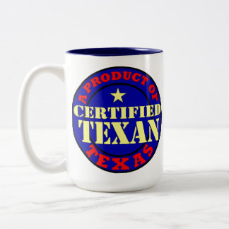 CERTIFIED TEXAN Two-Tone COFFEE MUG