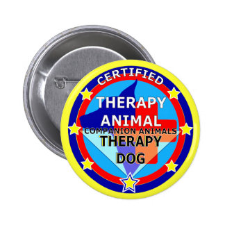 CERTIFIED THERAPY ANIMAL - THERAPY DOG BUTTON