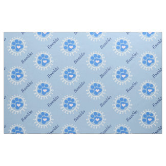 Certified Therapy Dog Blue Paw Fabric