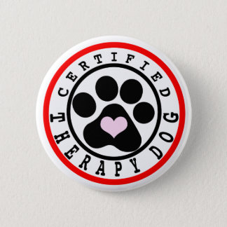 Certified Therapy Dog Button