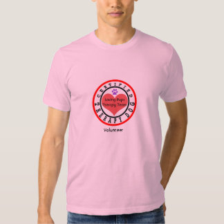Certified Therapy Dog Team Volunteer T-shirt