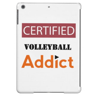 Certified Volleyball Addict iPad Air Cases