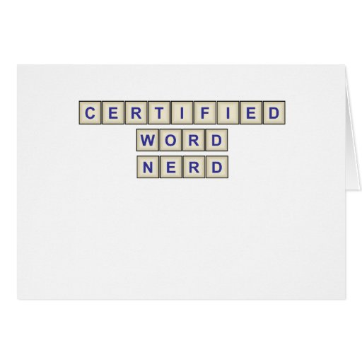 Certified Word Nerd Card