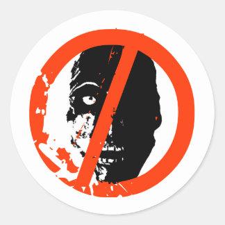 Certified Zombie Free Classic Round Sticker