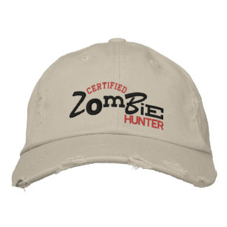 Certified ZOMBIE Hunter Halloween Embroidery Hat Embroidered Hats